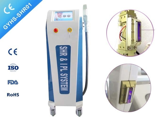 Double Handpiece IPL SHR Hair Removal Machine Vascular Pigment Therapy Elight